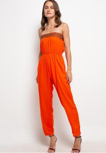 The Ocean Bali orange Gesper Jumpsuit 9CBE1AAD54DCD9GS_1