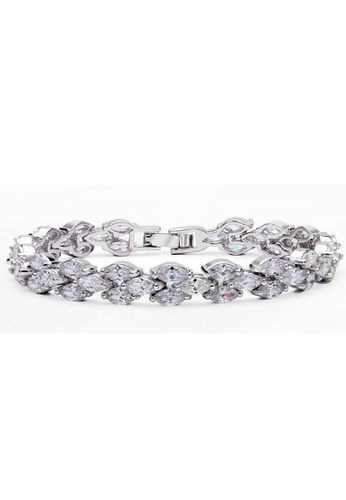 Vivere Rosse silver Starry Night Diamond Simulant Bracelet VI014AC26IBXMY_1
