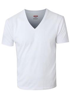 White Slim Fit V-Neck Undershirt