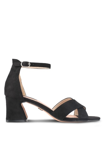 LOST INK black Bessie Low Block Sandals LO238SH0SZ35MY_1